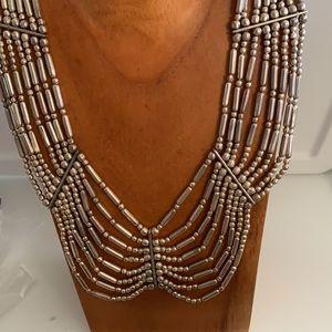 Metal collar silver Tibet Necklace